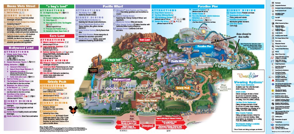 Downtown Disney California Map DISNEY CALIFORNIA ADVENTURE® Map   Anaheim Inn Downtown Disney California Map